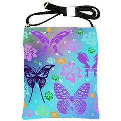 Butterfly Vector Background Shoulder Sling Bags