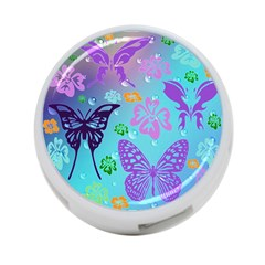 Butterfly Vector Background 4 Port Usb Hub (one Side)