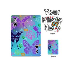 Butterfly Vector Background Playing Cards 54 (mini)