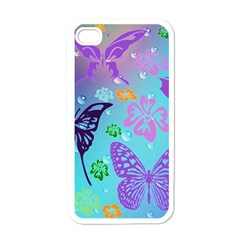 Butterfly Vector Background Apple Iphone 4 Case (white)