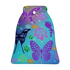 Butterfly Vector Background Bell Ornament (Two Sides)