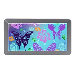Butterfly Vector Background Memory Card Reader (mini)