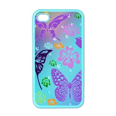 Butterfly Vector Background Apple Iphone 4 Case (color)