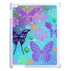 Butterfly Vector Background Apple Ipad 2 Case (white)