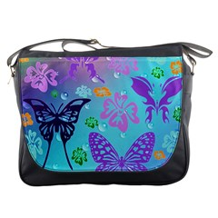 Butterfly Vector Background Messenger Bags