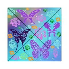 Butterfly Vector Background Acrylic Tangram Puzzle (6  X 6 )