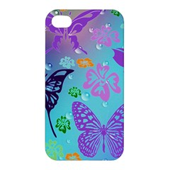 Butterfly Vector Background Apple Iphone 4/4s Premium Hardshell Case