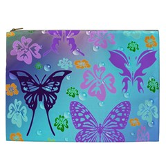 Butterfly Vector Background Cosmetic Bag (xxl)