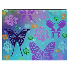 Butterfly Vector Background Cosmetic Bag (XXXL)