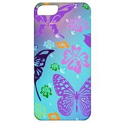 Butterfly Vector Background Apple iPhone 5 Classic Hardshell Case