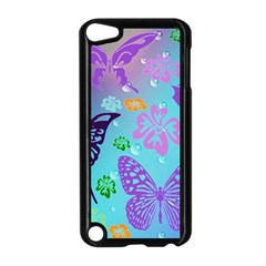 Butterfly Vector Background Apple Ipod Touch 5 Case (black)