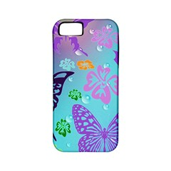 Butterfly Vector Background Apple Iphone 5 Classic Hardshell Case (pc+silicone)