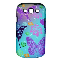 Butterfly Vector Background Samsung Galaxy S Iii Classic Hardshell Case (pc+silicone)
