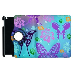 Butterfly Vector Background Apple Ipad 3/4 Flip 360 Case