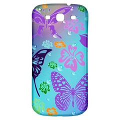 Butterfly Vector Background Samsung Galaxy S3 S Iii Classic Hardshell Back Case