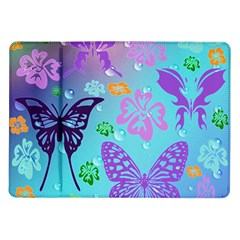 Butterfly Vector Background Samsung Galaxy Tab 10 1  P7500 Flip Case