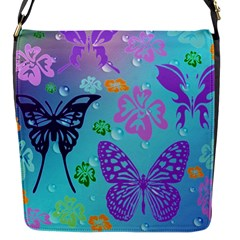 Butterfly Vector Background Flap Messenger Bag (s)