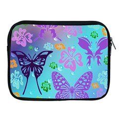 Butterfly Vector Background Apple Ipad 2/3/4 Zipper Cases