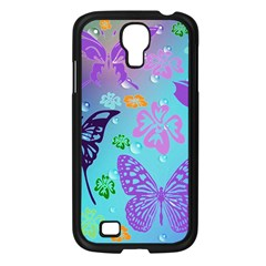 Butterfly Vector Background Samsung Galaxy S4 I9500/ I9505 Case (black)
