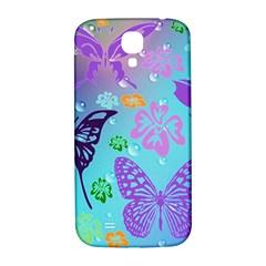 Butterfly Vector Background Samsung Galaxy S4 I9500/i9505  Hardshell Back Case