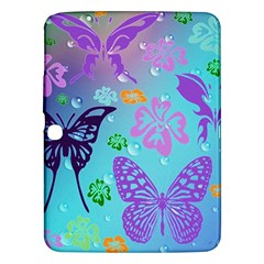 Butterfly Vector Background Samsung Galaxy Tab 3 (10 1 ) P5200 Hardshell Case