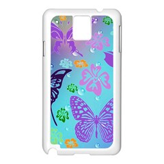 Butterfly Vector Background Samsung Galaxy Note 3 N9005 Case (white)