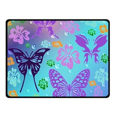 Butterfly Vector Background Double Sided Fleece Blanket (small)