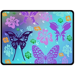 Butterfly Vector Background Double Sided Fleece Blanket (Large)