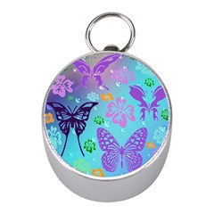 Butterfly Vector Background Mini Silver Compasses