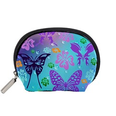 Butterfly Vector Background Accessory Pouches (small)