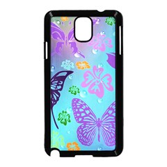 Butterfly Vector Background Samsung Galaxy Note 3 Neo Hardshell Case (Black)