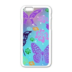 Butterfly Vector Background Apple Iphone 6/6s White Enamel Case
