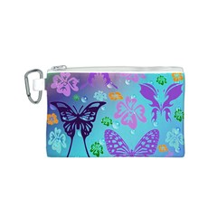 Butterfly Vector Background Canvas Cosmetic Bag (S)