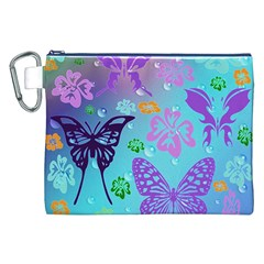 Butterfly Vector Background Canvas Cosmetic Bag (xxl)