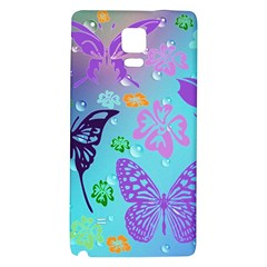 Butterfly Vector Background Galaxy Note 4 Back Case