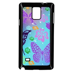 Butterfly Vector Background Samsung Galaxy Note 4 Case (black)