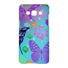 Butterfly Vector Background Samsung Galaxy A5 Hardshell Case