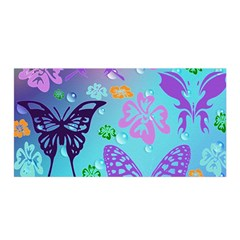 Butterfly Vector Background Satin Wrap