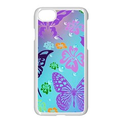 Butterfly Vector Background Apple Iphone 7 Seamless Case (white)