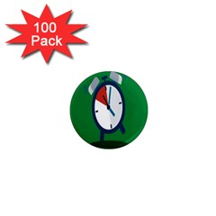 Alarm Clock Weker Time Red Blue Green 1  Mini Magnets (100 Pack)