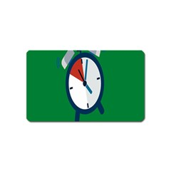 Alarm Clock Weker Time Red Blue Green Magnet (Name Card)
