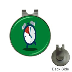 Alarm Clock Weker Time Red Blue Green Hat Clips With Golf Markers