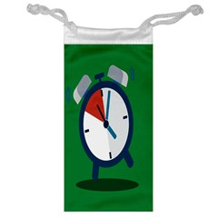 Alarm Clock Weker Time Red Blue Green Jewelry Bag