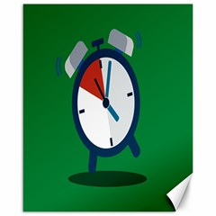 Alarm Clock Weker Time Red Blue Green Canvas 16  x 20