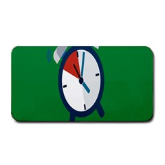 Alarm Clock Weker Time Red Blue Green Medium Bar Mats