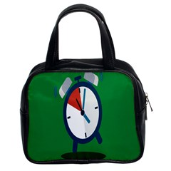 Alarm Clock Weker Time Red Blue Green Classic Handbags (2 Sides)