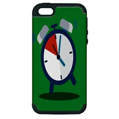 Alarm Clock Weker Time Red Blue Green Apple iPhone 5 Hardshell Case (PC+Silicone)