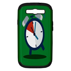 Alarm Clock Weker Time Red Blue Green Samsung Galaxy S Iii Hardshell Case (pc+silicone)