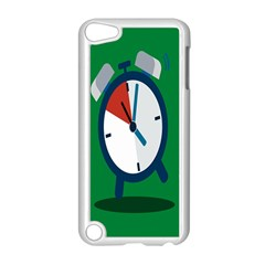 Alarm Clock Weker Time Red Blue Green Apple iPod Touch 5 Case (White)