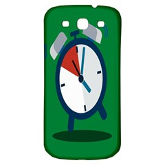 Alarm Clock Weker Time Red Blue Green Samsung Galaxy S3 S III Classic Hardshell Back Case